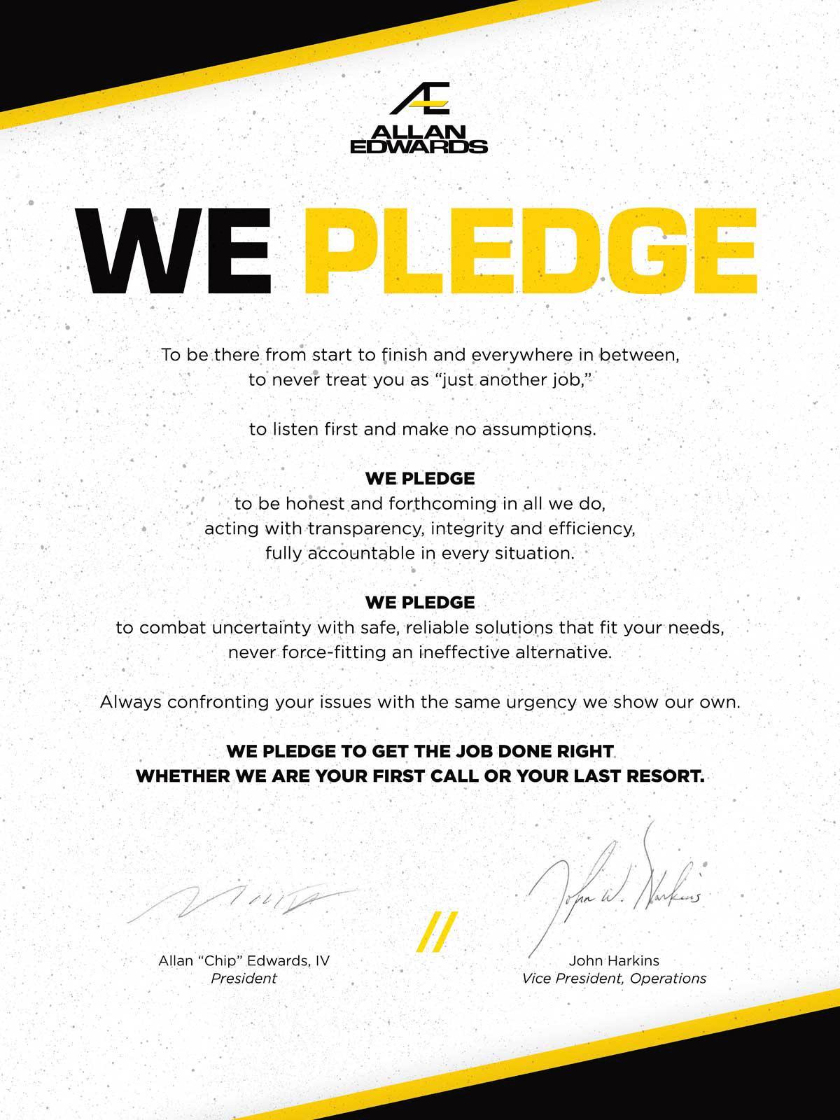 We pledge graphic